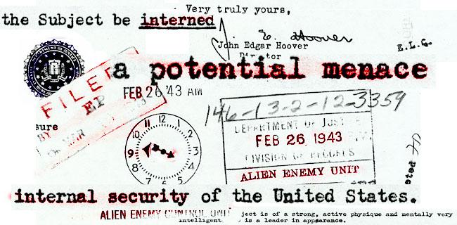 FBI File Montage by Brian Minami.